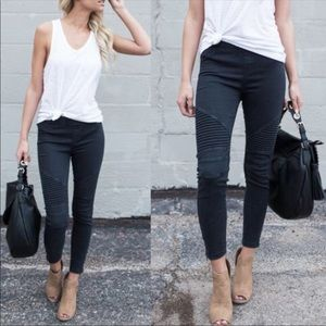 Black Plus Moto Legging